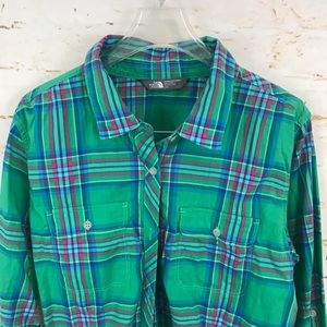 The North Face Tops - The Northface L women's 2 plaid button down shirts